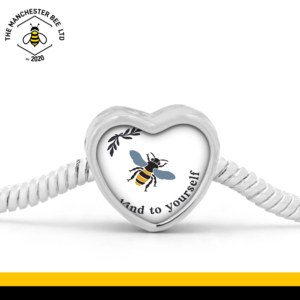 Bee Kind To Yourself Heart Bracelet Charm