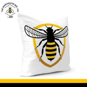 Bee Badge Cushion Cover 40cm x 40cm