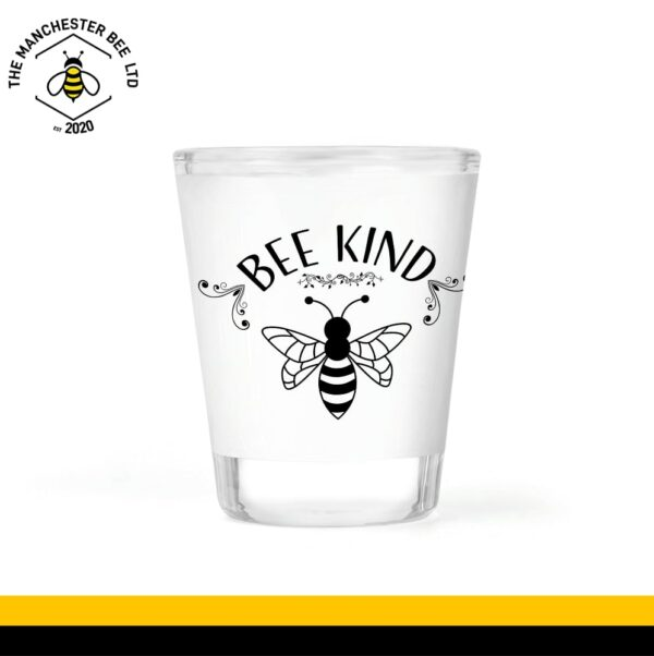 Bee Kind Frosted Shot Glass