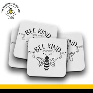 Set Of 4 Coasters - Bee Kind