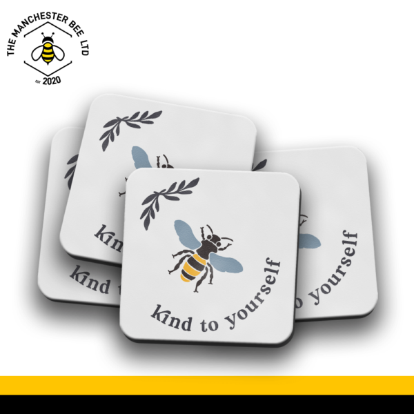 Set Of 4 Coasters - Bee Kind To Yourself