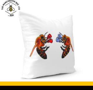 Boxing Bees Cushion Cover 40cm x 40cm