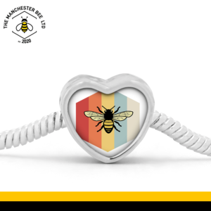 Retro Bee Heart Bracelet Charm
