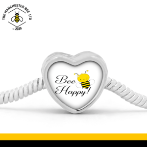 Bee Happy Heart Bracelet Charm