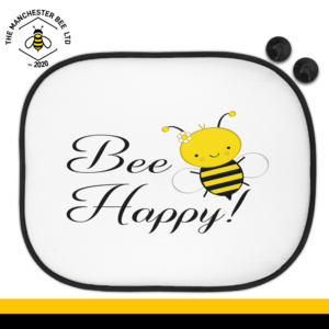 Bee Happy Car Sun Shade