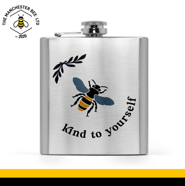 Bee Kind To Yourself Hip Flask
