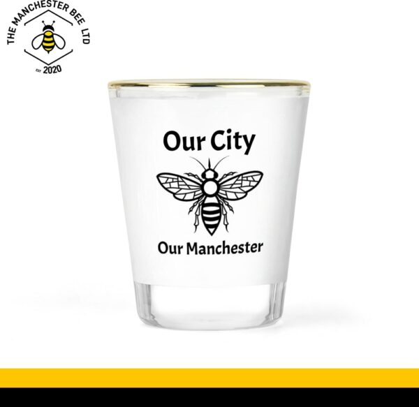 Our City Our Manchester Gold Rim Shot Glass