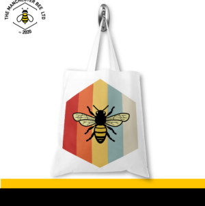 Retro Bee Jersey Tote Bag
