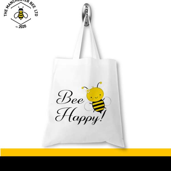 Bee Happy Jersey Tote Bag