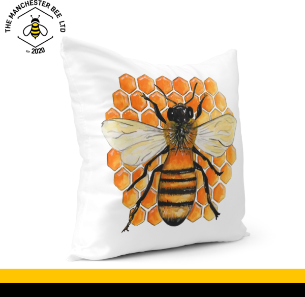 Honeycomb Bee Cushion Cover 40cm x 40cm