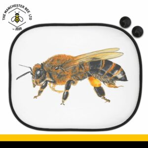 Lifelike Bee Portrait Car Sun Shade