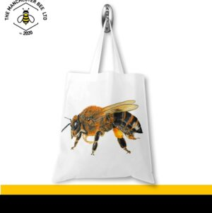 Lifelike Bee Portrait Jersey Tote Bag