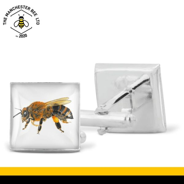 Lifelike Worker Bee Cufflinks
