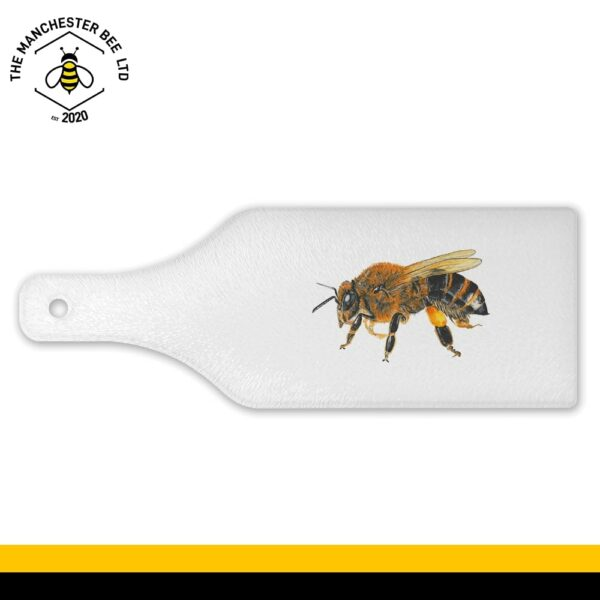 Lifelike Bee Portrait Wine Bottle Glass Chopping Board
