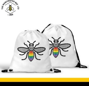 Manchester Pride Worker Bee Drawstring Sports Bag