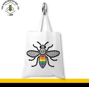 Manchester Pride Worker Bee Portrait Jersey Tote Bag