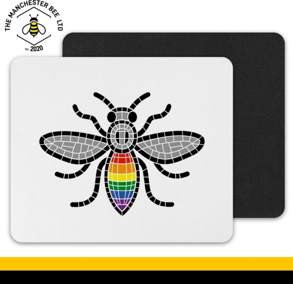 Manchester Pride Worker Bee Mouse Mat