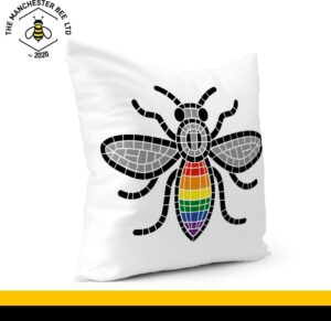 Manchester Pride Worker Bee Cushion Cover 30cm x 30cm