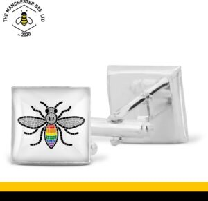 Manchester Pride Worker Bee Cufflinks
