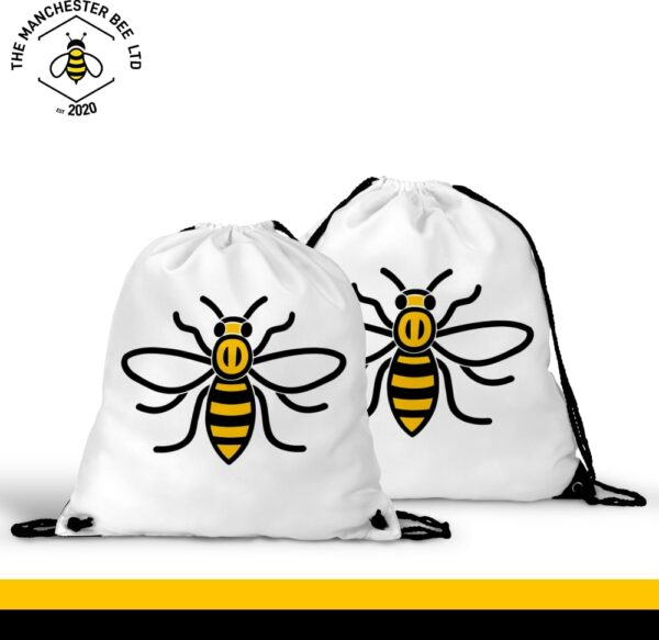 Manchester Worker Bee Drawstring Sports Bag