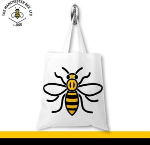 Manchester Worker Bee Portrait Jersey Tote Bag