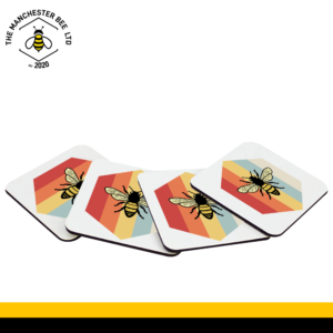Set Of 4 Coasters - Retro Bee