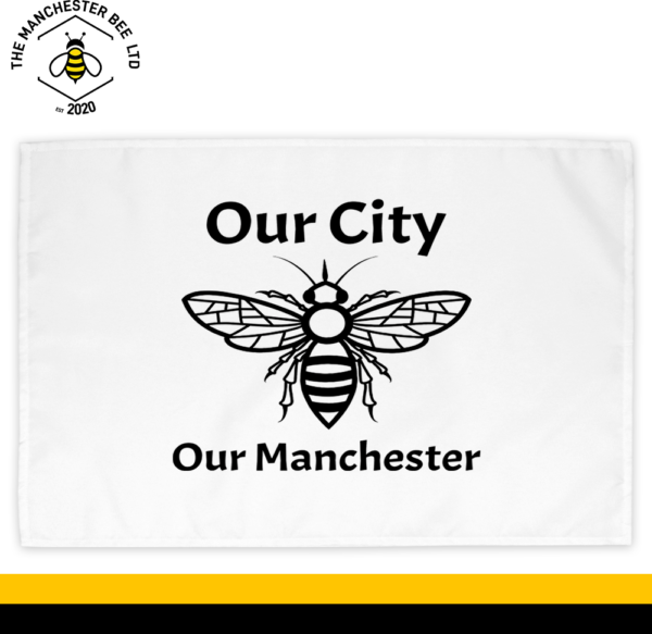 Our City Our Manchester Bee Cotton Tea Towel
