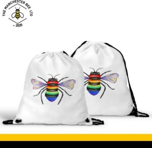 Rainbow Key Worker Bee Drawstring Sports Bag