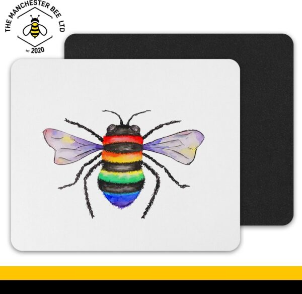 Rainbow Key Worker Bee Mouse Mat
