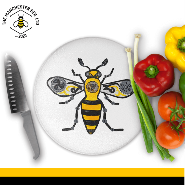 Industrial Bee Round Chopping Board