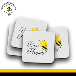 Set Of 4 Coasters - Bee Happy