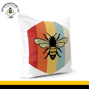 Retro Bee Cushion Cover 40cm x 40cm