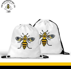 Steampunk Worker Bee Drawstring Sports Bag