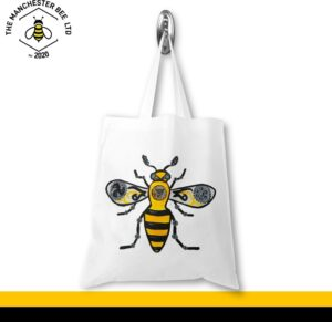 Steampunk Worker Bee Jersey Tote Bag