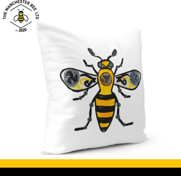 Steampunk Bee Cushion Cover 40cm x 40cm