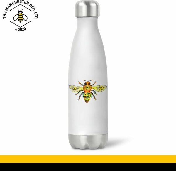 Yellow Floral Bee Chilly Style Drinks Bottle