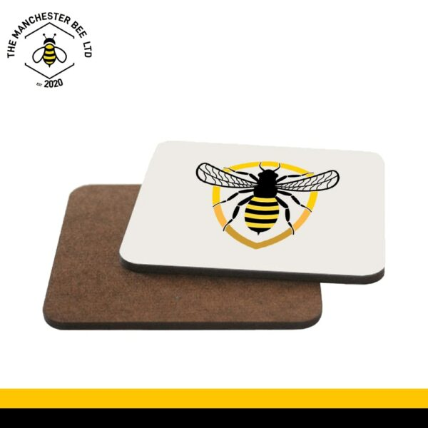 Bee Badge Single Drinks Coaster