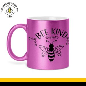 Bee Kind Glitter Mug Purple