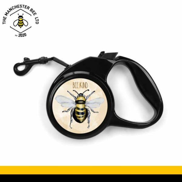 Be Kind Watercolour Bee Retractable Dog Lead - Small