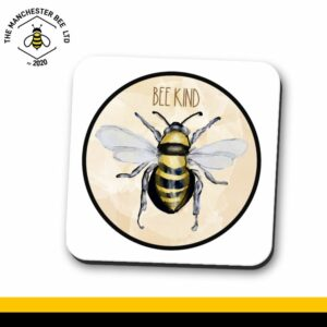 Be Kind Watercolour Bee Single Drinks Coaster