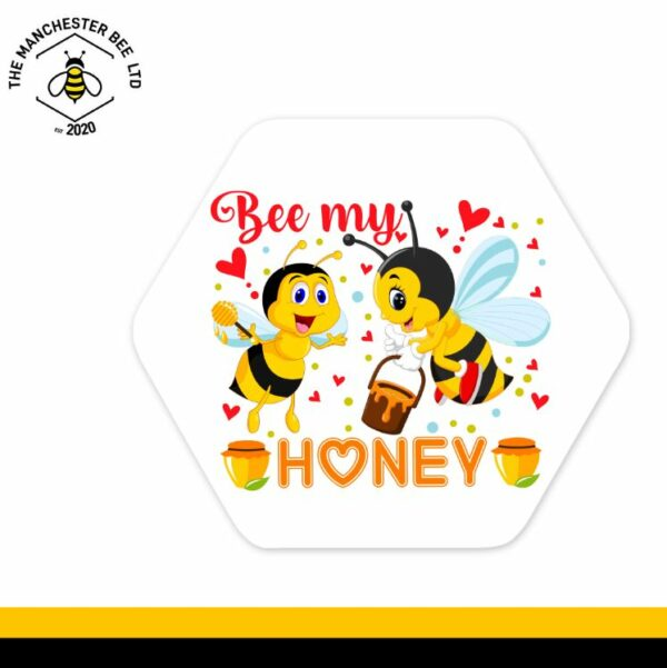 Bee My Honey Hexagon Coaster