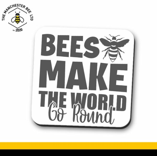 Bees Make The World Go Round Single Drinks Coaster