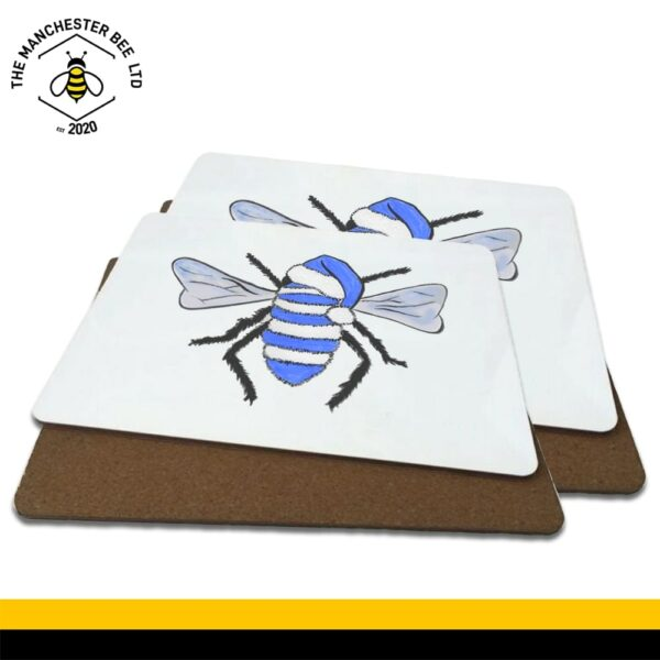 Blue Christmas Bee Luxury Placemats