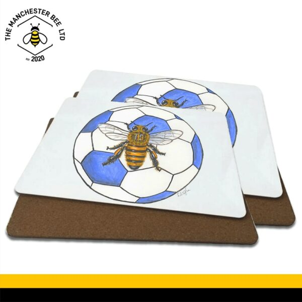 Blue Football Bee Luxury Placemats