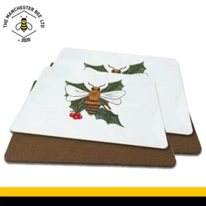 Christmas Holly Bee Luxury Placemats