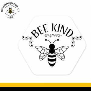 Fancy Bee Kind Hexagon Coaster