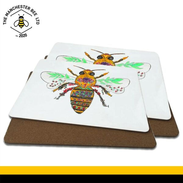 Floral Bee Luxury Placemats