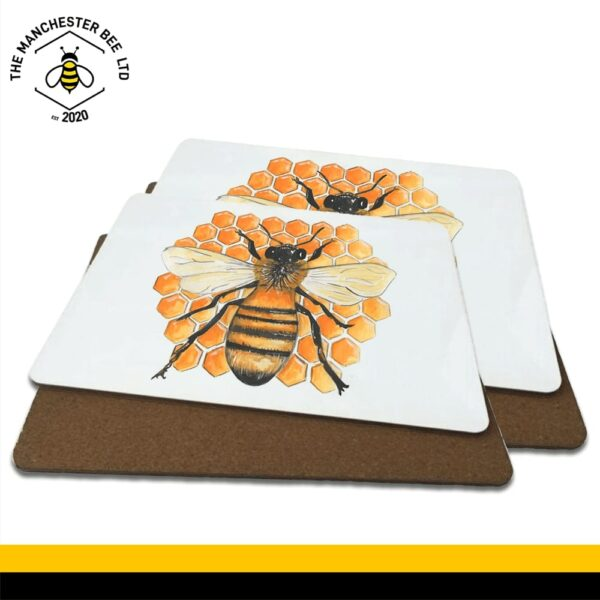 Honeycomb Worker Bee Luxury Placemats