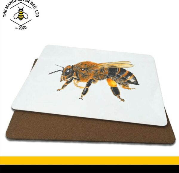 Lifelike Bee Portrait Single Drinks Coaster