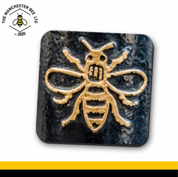 Manchester Gold Worker Bee Single Drinks Coaster